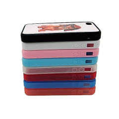 For iPhone 4/4S Sublimation Blank 2D TPU Rubber Phone Case