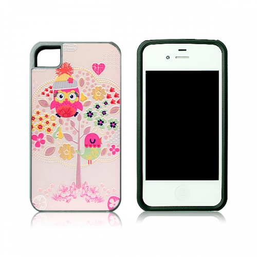 For iPhone 4/4S Sublimation 2D 2IN1 Phone Case