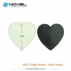 Sublimation MDF Fridge Sticker - Heart