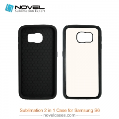 For Galaxy S6 Custom Sublimation 2D Dual Protective 2IN1 Phone Case