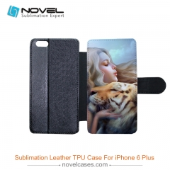 For iPhone 6 Plus Sublimation Custom Design PU Leather Mobile Phone Shell