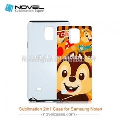For Galaxy Note 4 Sublimation 2D Blank 2IN1 Mobile Phone Case