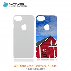 For iPhone 7/8 (With Apple Hole) DIY 3D Sublimation Blank PC Phone Case