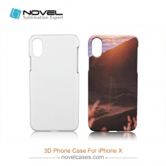 For iPhone X/XS Sublimation 3D PC Smartphone Back Cover Case