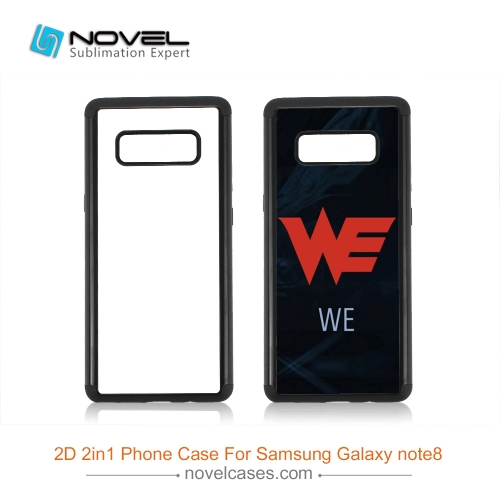 For Galaxy Note 8 2D 2IN1 Sublimation Back Case Shell For Heavy Duty