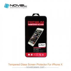 New Product For iPhone X Mobile Phone Explosion Proof Screen Protector With Gift Package