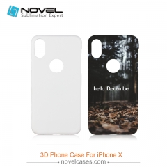 For iPhone X(10) Popular Sublimation 3D Printed Case With Round Hole