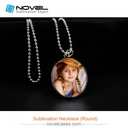 Popular Sublimation Blank Necklace--Round Shaped