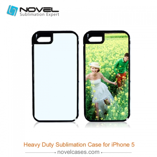 For iPhone 5/5S/SE Sublimation Blank 2D 2IN1 Phone Case