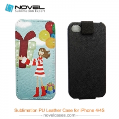 For iPhone 4/4S Sublimation PU Leather Phone Case, PU Phone Wallet