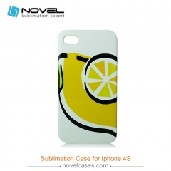 For iPhone 4/4S Blank 3D Sublimation Plastic Phone Case
