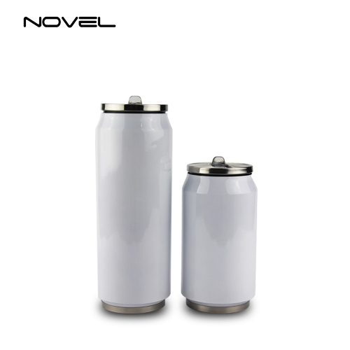 350ml/500ml Stainless Steel Sublimation Coke Can Water Bottle With Straw