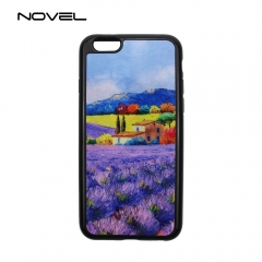 For iPhone 4/5/6/7/8/X/6+/7+/8+ Sublimation 2D Flexible Soft Rubber Phone Case With Printable Film Insert