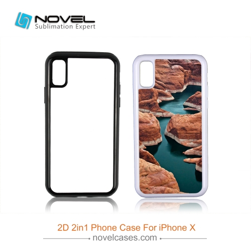 For iPhone XS/iPhone X Custom Sublimation 2D 2IN1 Phone Case