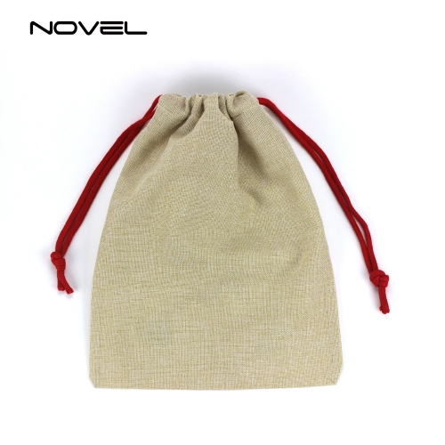 Drawstring Santa Sack Cotton Linen Christmas Gift Bag