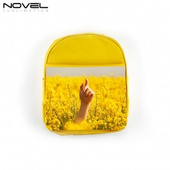 Custom Blank Polyester Sublimation Kid Backpack-Yellow