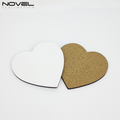 DIY Blank Sublimation 3mm MDF Coaster-Heart