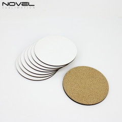 4mm Coaster Blank Sublimation Mug Coaster With Cork Back- Round