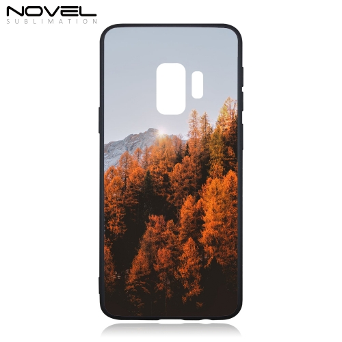 Tempered Glass Case For Galaxy S9 Sublimation 2D TPU Phone Cover