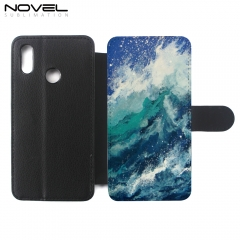 Custom Sublimation PU Leather Flip Phone Case For Honor 10 Lite