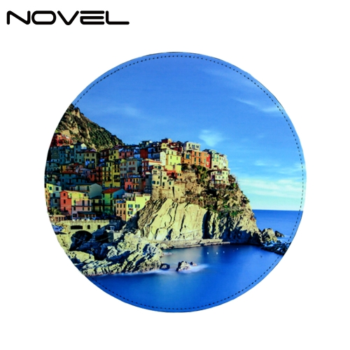 PU Mouse Pad Sublimation Blank Mouse Mat-Round
