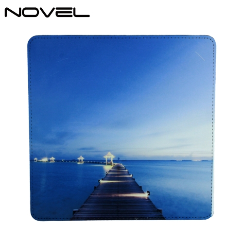 PU Leather Mouse Pad Sublimation Blank Mouse Mat-Square