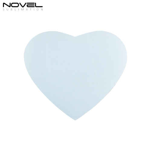 Rubber Mouse Pad Sublimation Blank Heart Mouse Pad
