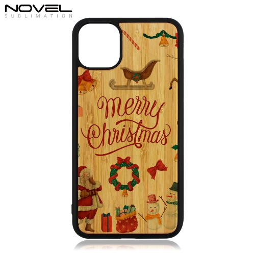 Custom Sublimation 2D TPU Wooden Blank Case For iPhone 11 Pro