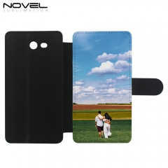 Blank Sublimation PU Flip Phone Wallet Case For Galaxy J7 2017 USA Version/ J720