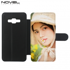 DIY Sublimation Blank PU Flip Phone Case For Galaxy Core Prime G360