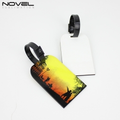 Double sided Printing MDF Luggage Tag NSX-004D
