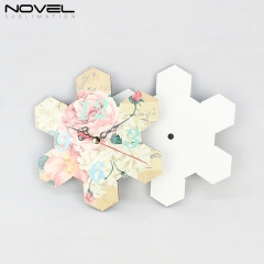 Decorative Wooden MDF Clock Sublimation Wall Clock