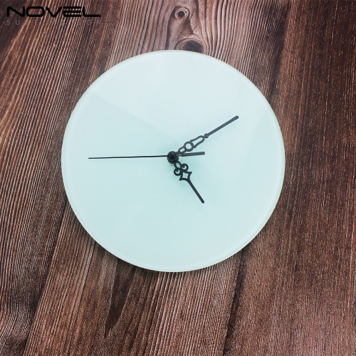 Sublimation Printing Circle Glass Clock Photo Frame