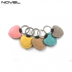 Blank Sublimation PU Leather Keychain Heart