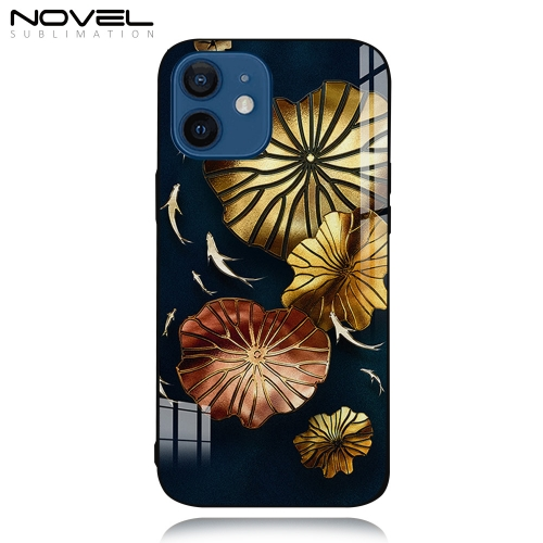 Tempered Glass TPU Sublimation 2D Case for iPhone 12 Mini