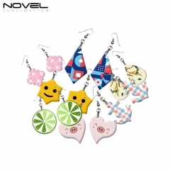 Customized Earrings Blanks MDF Sublimation Printing Earrings for Making DIY Craft