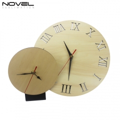 MDF Wooden Clock Photo Frame Sublimation Desk Clock Wall Clock Plywood Clock Various Shapes